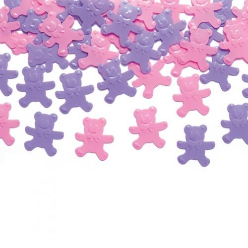 Konfetti Nallebjörnar rosa/lila