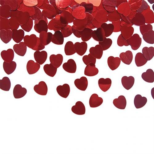 Konfetti Små Röda Hjärtan