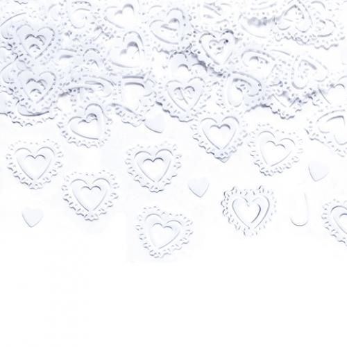 Konfetti Vita hjärtan