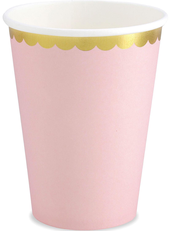 Pappersmuggar, pastell rosa