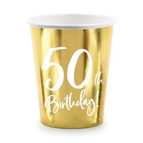 Pappersmuggar Guld 50 år 6-pack