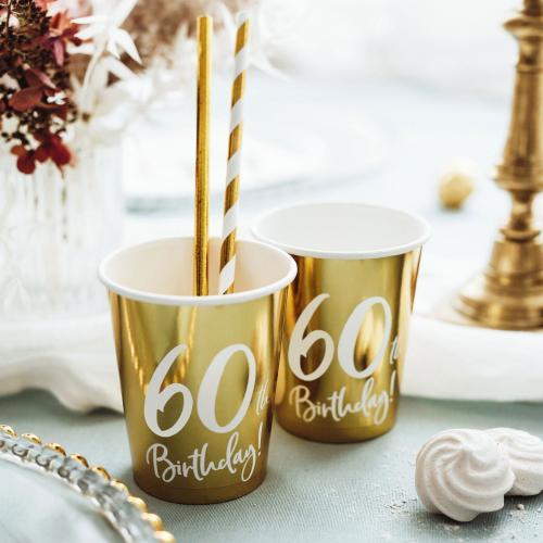 Pappersmuggar Guld 60 år 6-pack