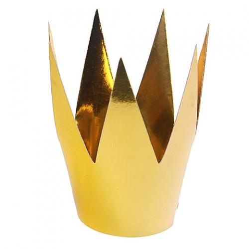 Guldfärgad krona i papper