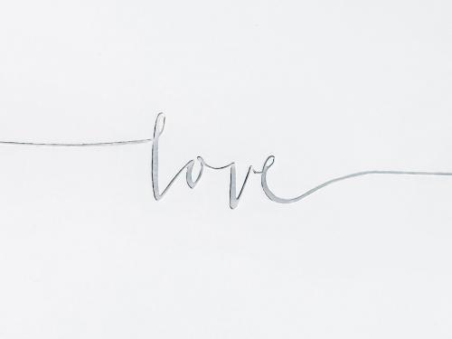 Gästbok Love silver