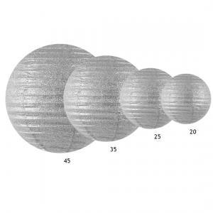 Glittrig lykta silver 20 cm