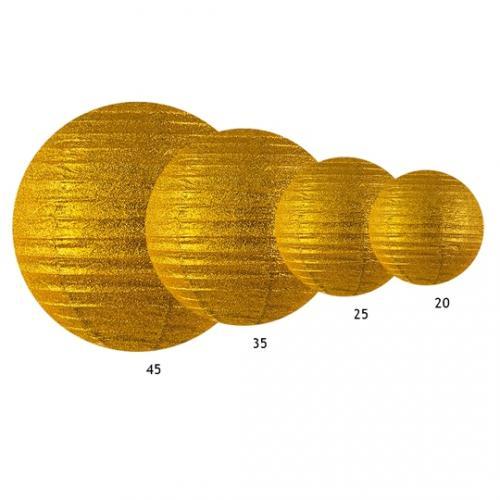 Glittrig lykta guld 25 cm