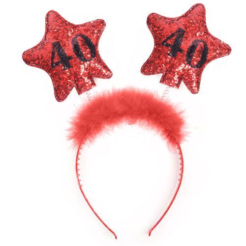 Stjärndiadem, rött, 40