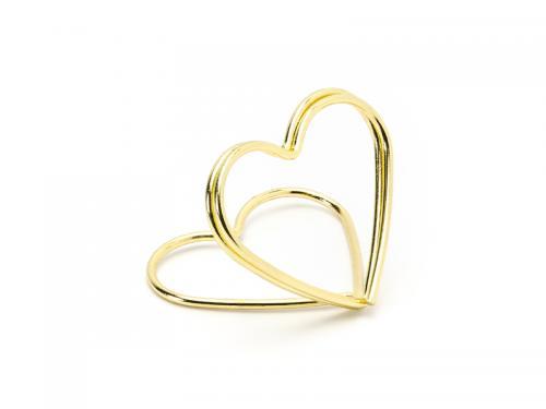 Hållare till placeringskort, hjärtan, guld
