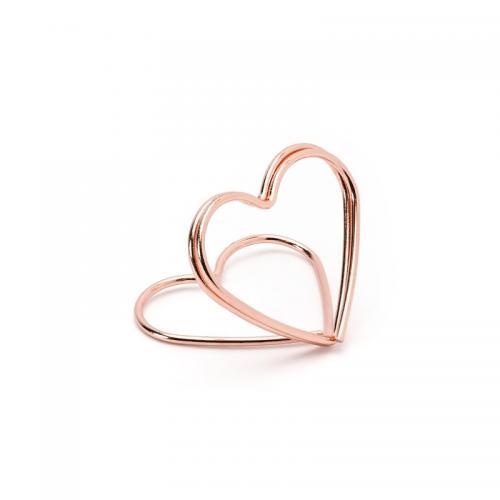 Hållare till placeringskort, hjärtan, rosé guld