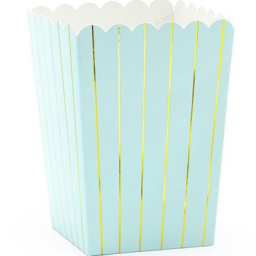 Popcornboxar Ljusblå