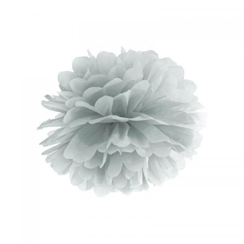 Pom Pom 25 cm Silvergrå