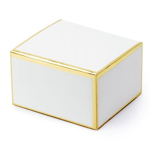 Små presentaskar med guldkant