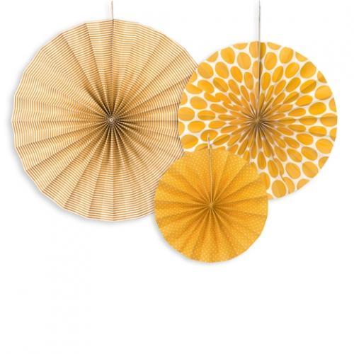 Dekorationsrosetter Orange