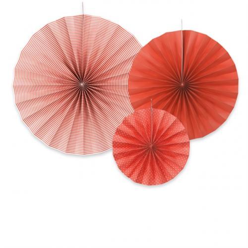 Dekorationsrosetter Röd