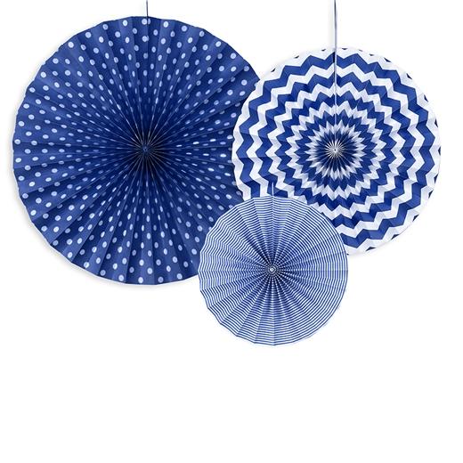 Dekorationsrosetter Mörkblå