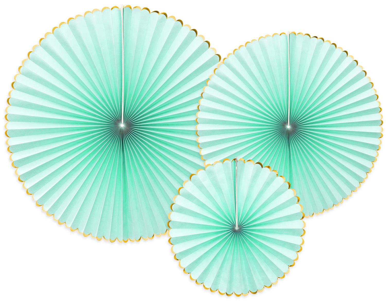 Dekorationsrosetter, pastell mint