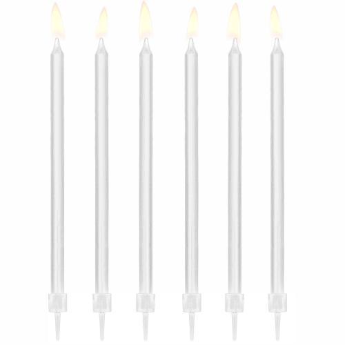 Tårtljus, vita, 14 cm
