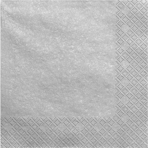 Servett silvermetallic