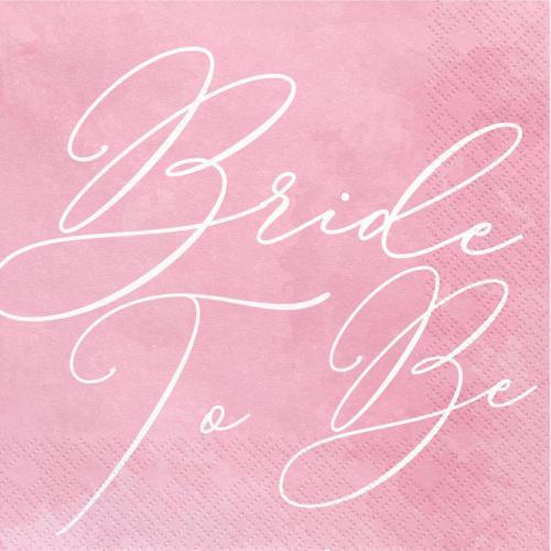 Servetter Bride to be, rosa
