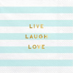 "Servetter ""Live Laugh Love"""
