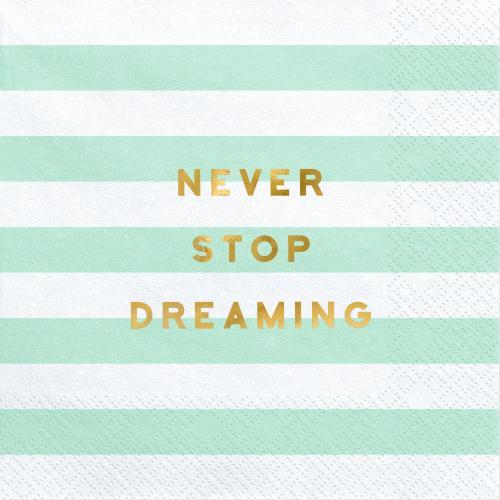 """Servetter """"Never stop dreaming"""""""