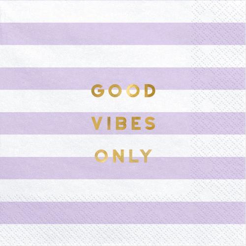"""Servetter """"Good vibes only"""""""