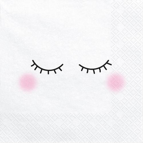 Servett Blundande ögon