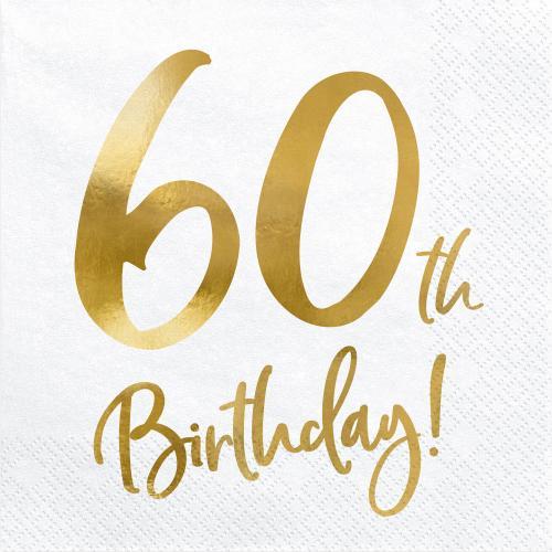 Servetter 60-årsdagen
