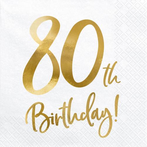 Servetter 80-årsdagen