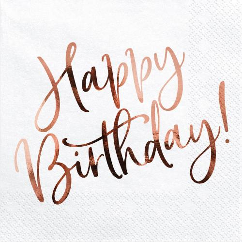 Servett Happy Birthday Rosé