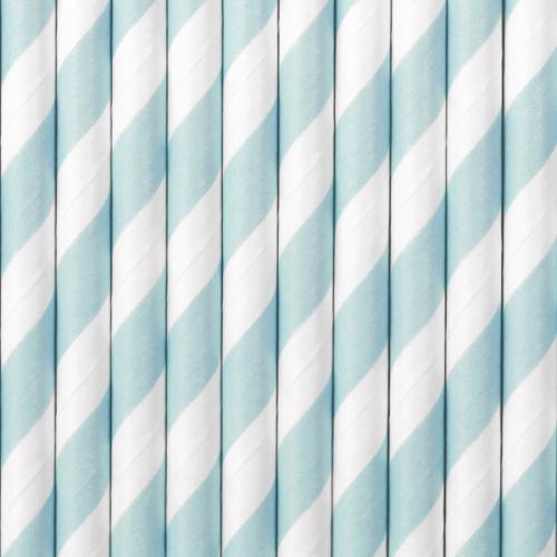 Papperssugrör spiral ljusblå