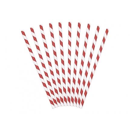 Papperssugrör spiral röd