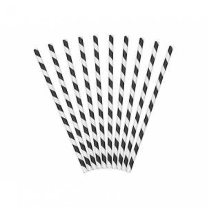 Papperssugrör spiral svart