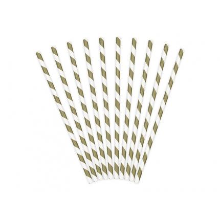 Papperssugrör spiral guld