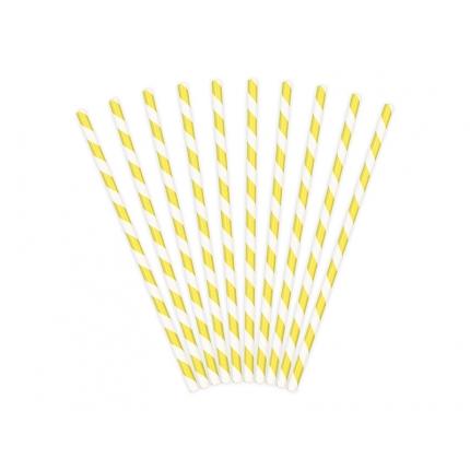 Papperssugrör spiral gul