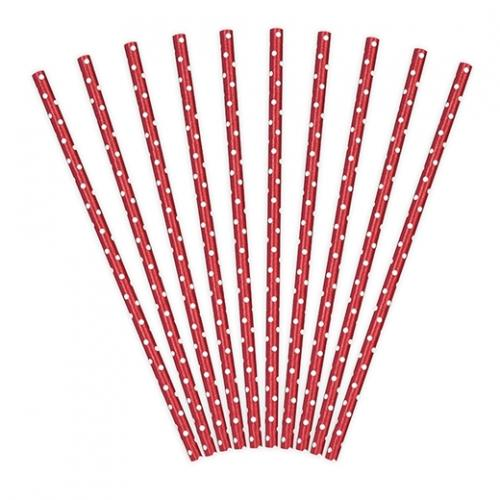 Papperssugrör prickar röd