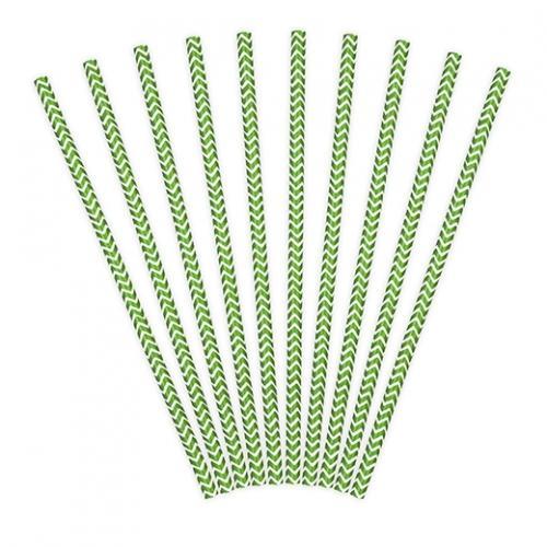 Papperssugrör chevron grön