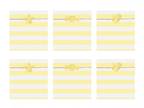 Kalaspåse, pastell gul