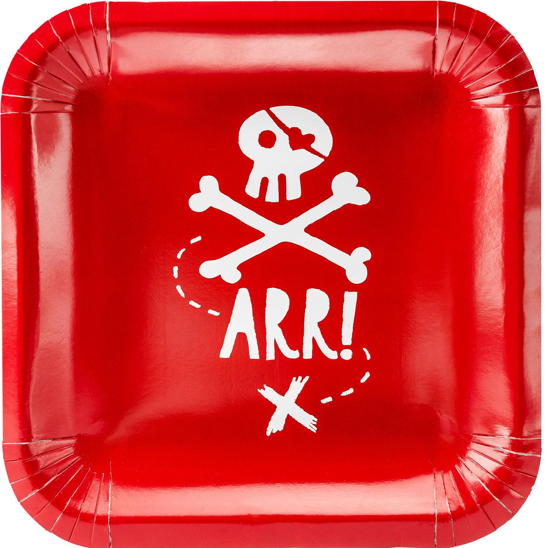 Pirattallrikar röda