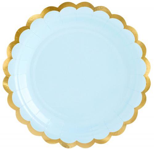 Pappersassietter, pastell blå