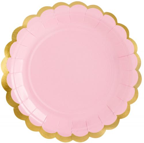 Pappersassietter, pastell rosa
