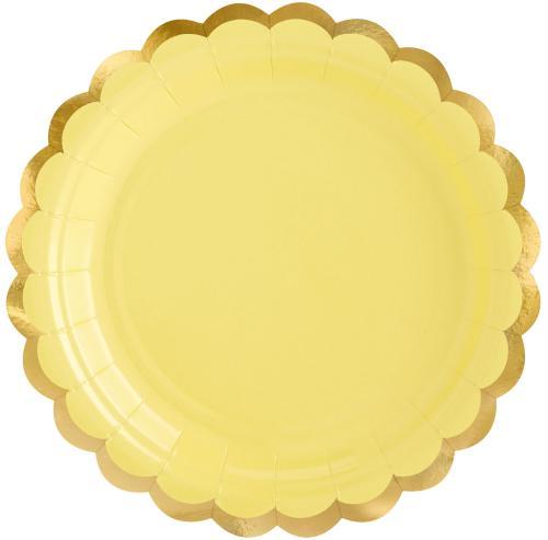Pappersassietter, pastell gul
