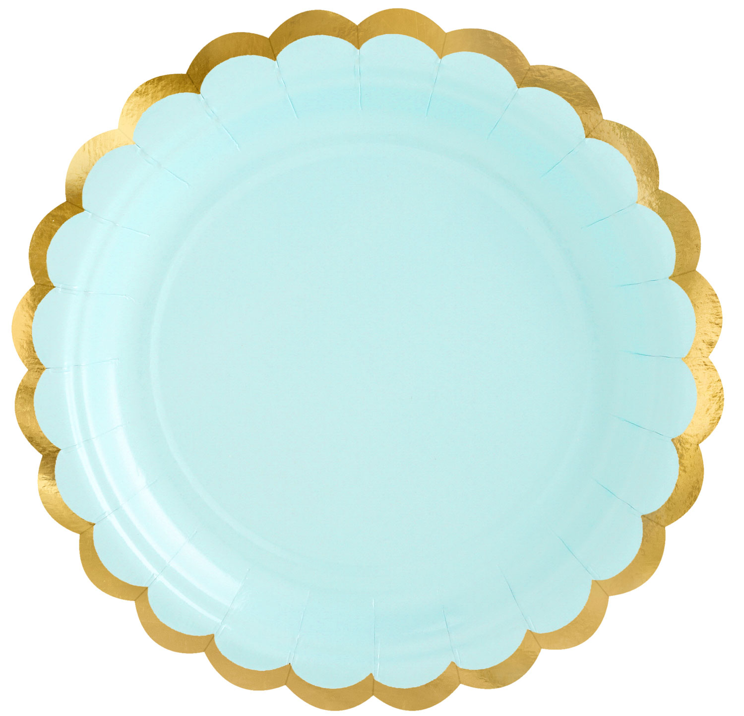 Pappersassietter, pastell mint