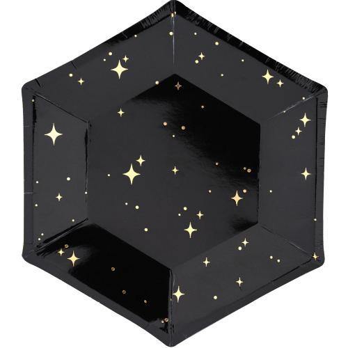 Papperstallrik svart, 20 cm