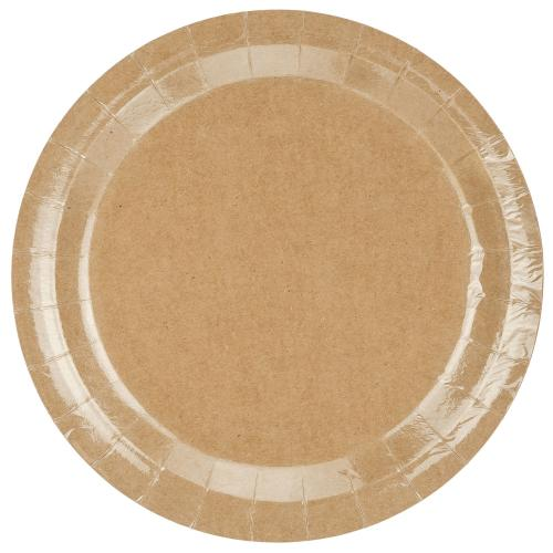 Papperstallrikar, Kraftpapper, 23 cm