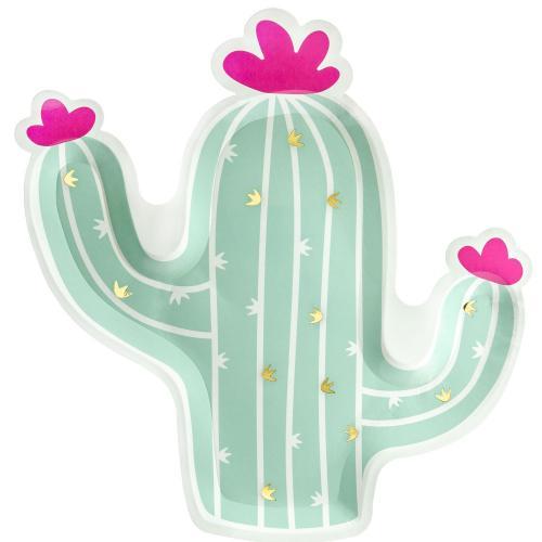 Pappertallrik Kaktus