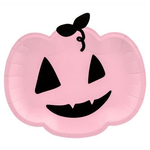 Papperstallrik, rosa pumpa