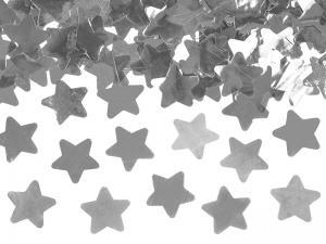 Konfettikanon Stjärnor Silver 40 cm