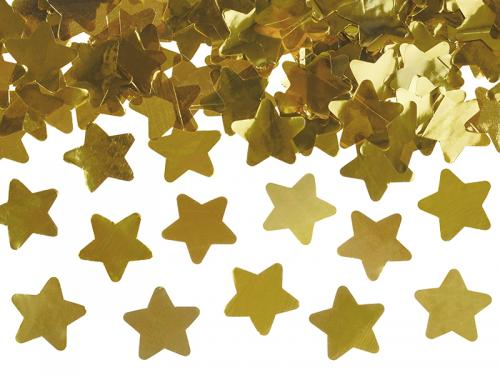 Konfettikanon Stjärnor Guld 40 cm