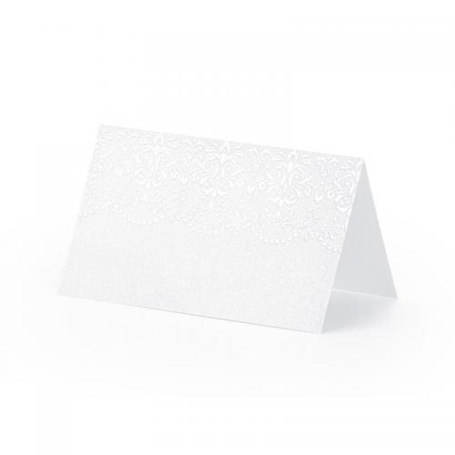 Placeringskort, pärlemovit med ornament